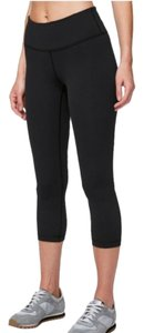 lululemon athletica Lululemon Black Wunder Under Crop Leggings