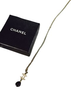 Chanel Chanel Silver & Clear Crystal CC Necklace