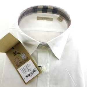 Burberry White Brit Collection Trim Fit Button-down Men 'henry Check' Shirt