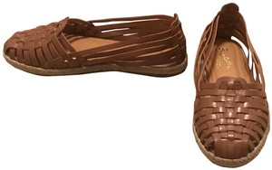 Seychelles Leather Woven Summer Spring Espadrille Brown Flats