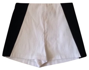 Charlotte Russe Color Block White And Mini/Short Shorts White, Black