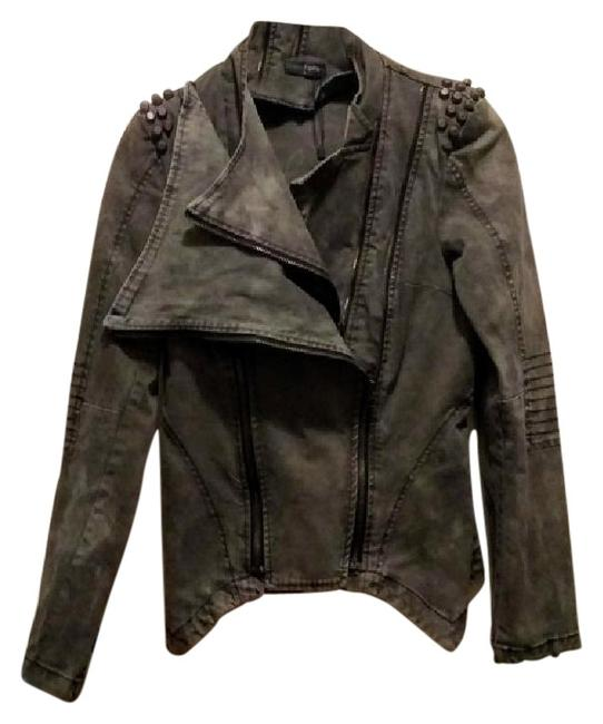 Item - Army Green Distressed Studded Jacket Size 12 (L)