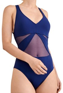 Bleu Rod Beattie Bleu Rod Beattie DON'T MESH WITH ME V-Neckline One-Piece Swimsuit