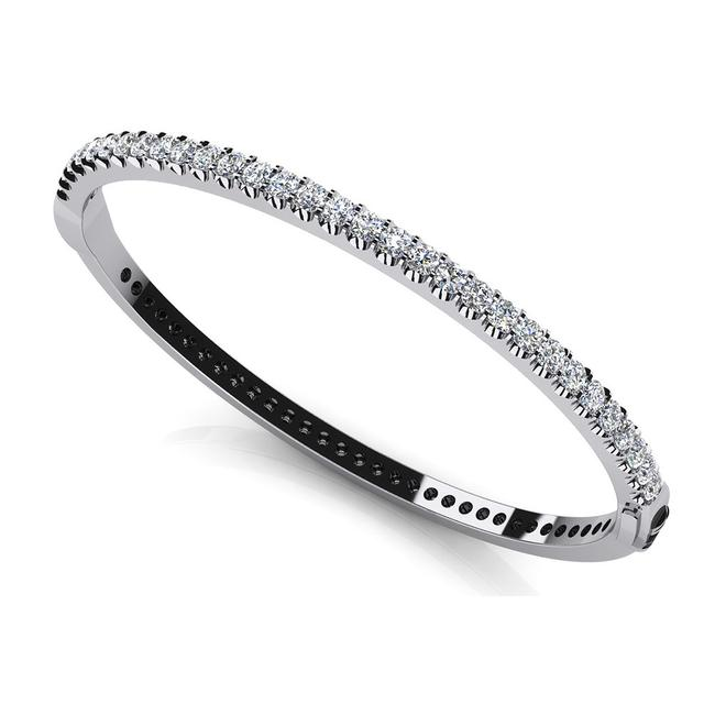 Item - White 5.00 Ct. Round Bangle Bracelet