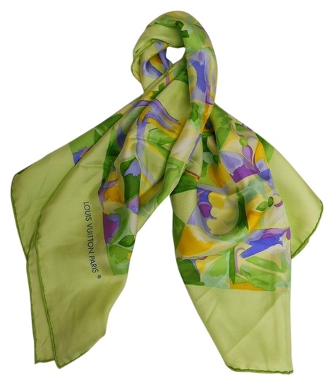 Preload https://item1.tradesy.com/images/louis-vuitton-multicolor-floral-green-and-scarfwrap-2676430-0-0.jpg?width=440&height=440