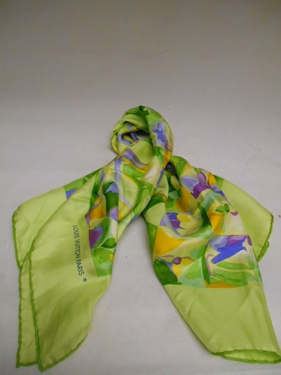 Louis Vuitton Louis Vuitton Floral Green and Multicolor Scarf