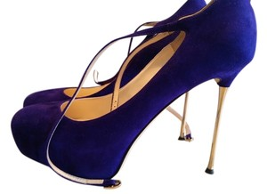 Brian Atwood Pump Suede purple Pumps