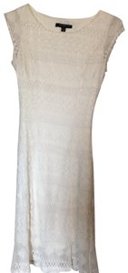 Sharagano short dress off white/cream on Tradesy
