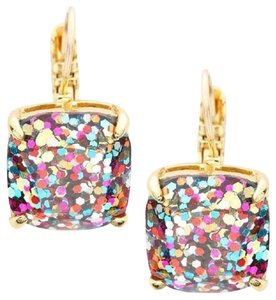 Kate Spade Kate Spade Square Multi Glitter Leverback Drop Earrings