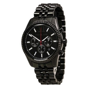 Michael Kors 100% NEW MICHAEL KORS Black Lexington Chrono Bracelet Watch MK8320