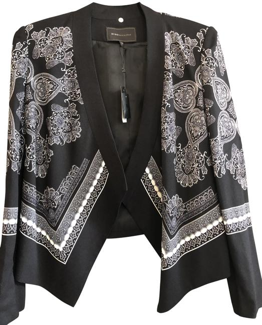 """Item - Black White Gray Open Front """"Abree"""" Style# Ifz4f639 Jacket Size 4 (S)"""