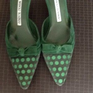 Manolo Blahnik Forest Green Pumps