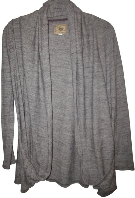 Item - Gray Marbled Open Front Cardigan Size 6 (S)
