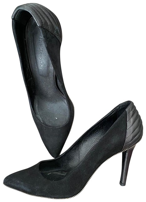 Item - Black Suede and Leather Pumps Size US 9 Regular (M, B)