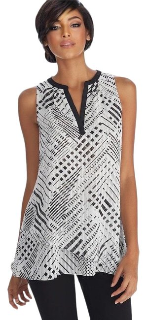 Item - Print Sleeveless Tunic Size 6 (S)