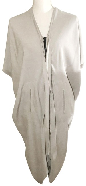 Item - Grey Cocoon Zip Up Mid-length Short Casual Dress Size 6 (S)