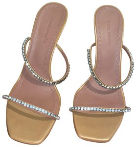 Amina Muaddi Tan Sandals