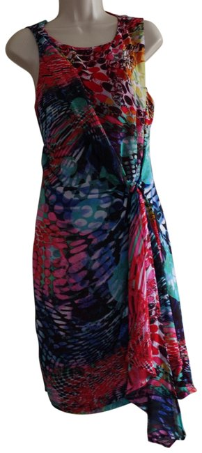 Item - Floral Multi Color Sleeveless Cocktail Dress Size 8 (M)