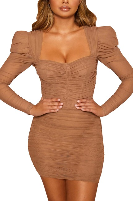 Item - Tan / Beige 2548 Short Night Out Dress Size 0 (XS)