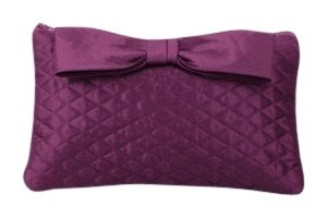 Dessy Taffeta Hand Purple Clutch