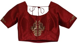 India Boutique Top Maroon