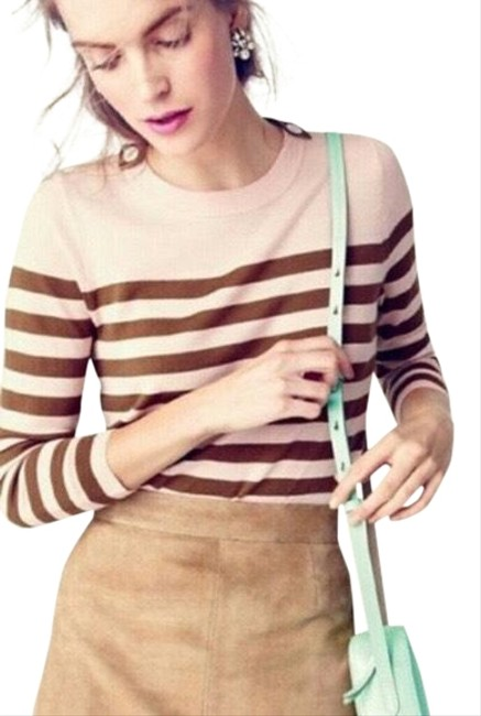Item - Tippi Striped with Shoulder Buttons Brown/ Peach Sweater