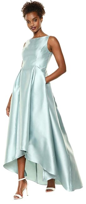 Item - Aqua Dust High Low Mikado Ball Gown with V-back Long Formal Dress Size 4 (S)