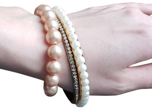 Fashion Jewelry For Everyone Bracelets Pearls + Crystal Set