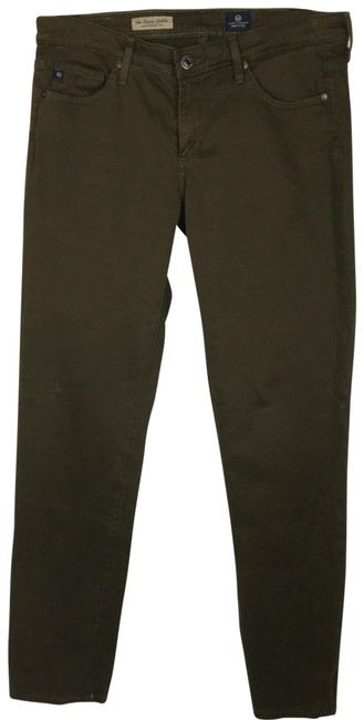 AG Adriano Goldschmied Green Stevie Ankle Slim Straight Leg Jeans Size 6 (S, 28) AG Adriano Goldschmied Green Stevie Ankle Slim Straight Leg Jeans Size 6 (S, 28) Image 1