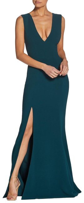 Item - Pine Sandra Plunge Crepe Gown Long Formal Dress Size 16 (XL, Plus 0x)
