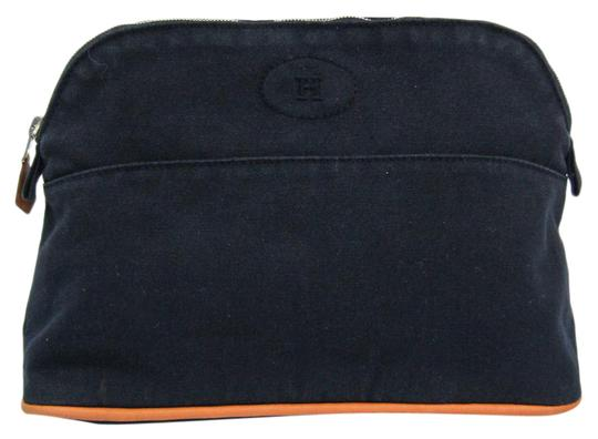 Preload https://img-static.tradesy.com/item/26768706/hermes-bolide-mm-pouch-navy-cotton-leather-clutch-0-1-540-540.jpg