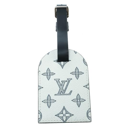 Louis Vuitton White/Blue Monogram Savane Canvas and Leather Chapman Brothers Luggage Image 1