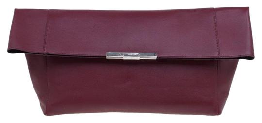 Céline Leather Suede Red Clutch Image 0