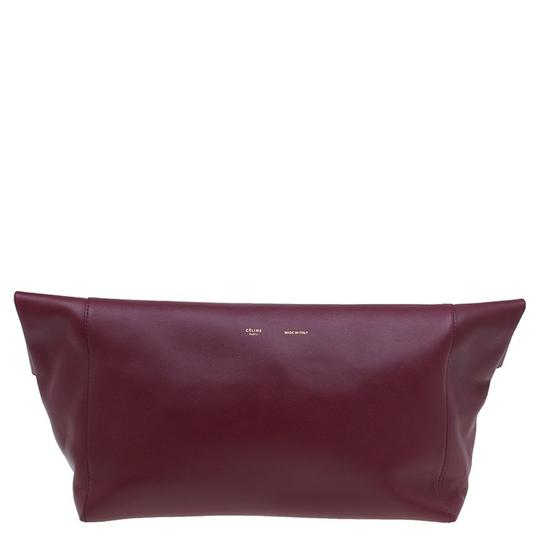 Céline Leather Suede Red Clutch Image 1