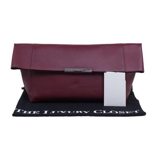 Céline Leather Suede Red Clutch Image 10