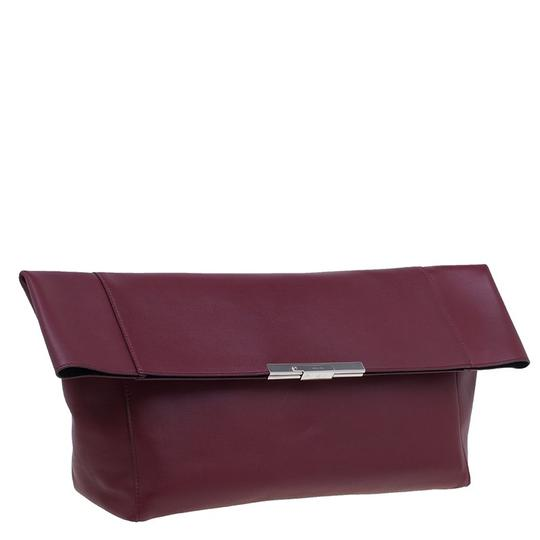 Céline Leather Suede Red Clutch Image 3