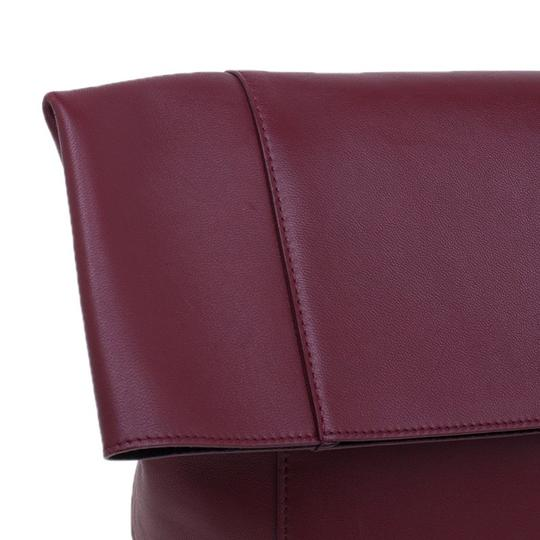 Céline Leather Suede Red Clutch Image 5