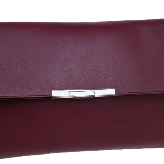 Céline Leather Suede Red Clutch Image 6