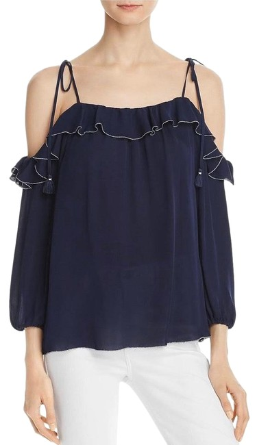 Preload https://img-static.tradesy.com/item/26768802/joie-navy-blue-eukene-silk-blouse-size-10-m-0-1-650-650.jpg
