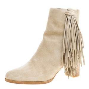 Christian Louboutin Detail Ankle Beige Boots
