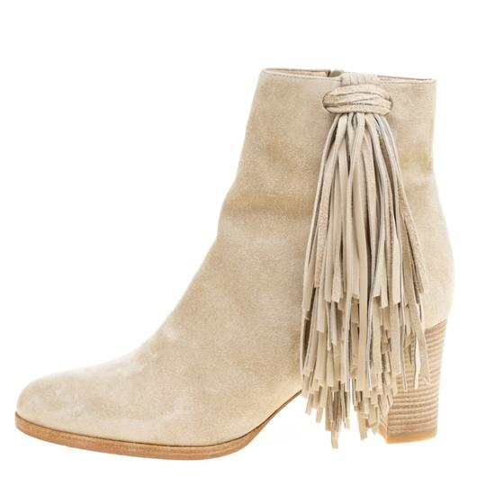 Christian Louboutin Detail Ankle Beige Boots Image 1