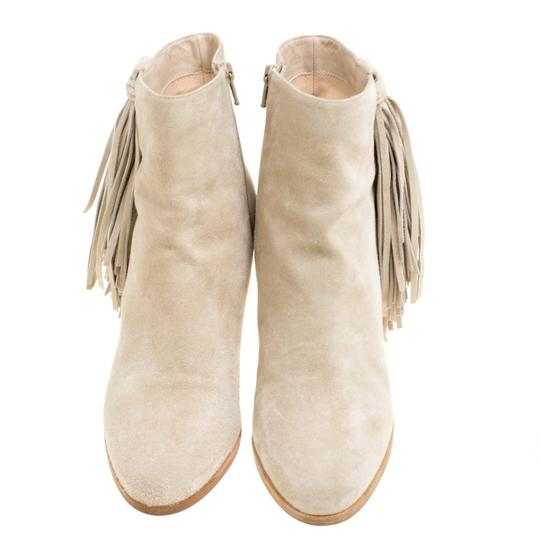 Christian Louboutin Detail Ankle Beige Boots Image 2