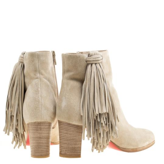 Christian Louboutin Detail Ankle Beige Boots Image 3