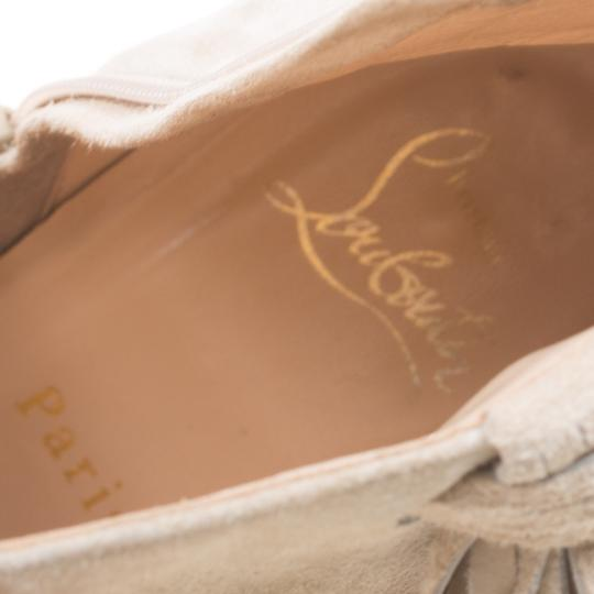 Christian Louboutin Detail Ankle Beige Boots Image 4