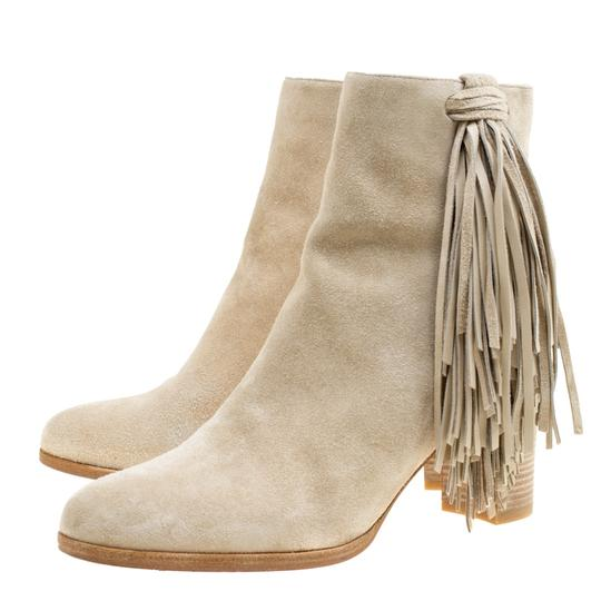 Christian Louboutin Detail Ankle Beige Boots Image 6
