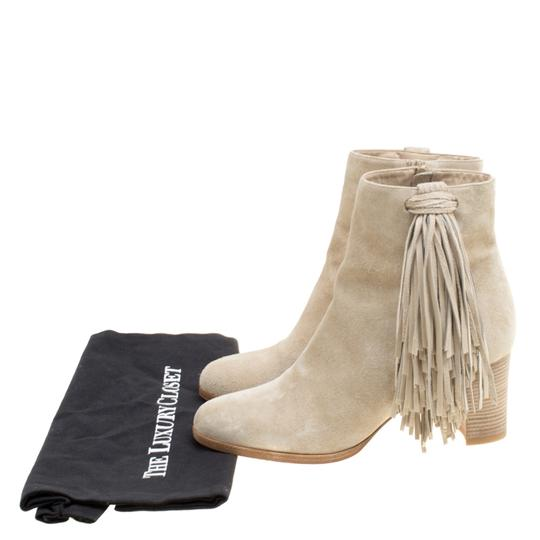 Christian Louboutin Detail Ankle Beige Boots Image 7