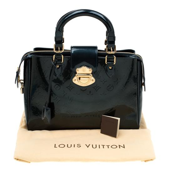 Louis Vuitton Patent Leather Monogram Tote in Green Image 11
