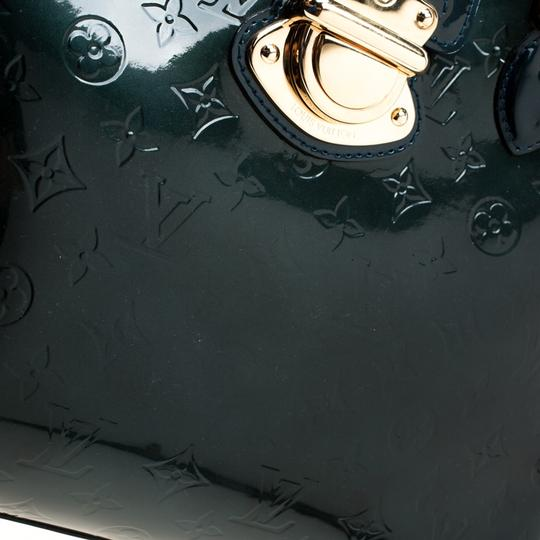Louis Vuitton Patent Leather Monogram Tote in Green Image 7