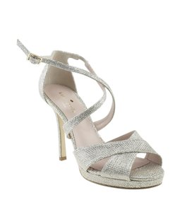 Kate Spade Leather Silver Sandals