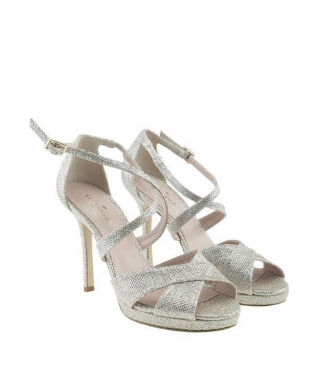 Kate Spade Leather Silver Sandals Image 1
